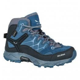 Ботинки Salewa JR Alp Trainer MID GTX детские синие