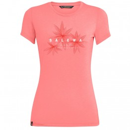 Футболка Salewa Lines Graphic Wms жіноча рожева