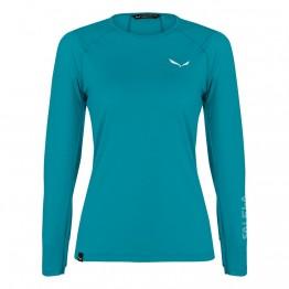 Футболка Salewa Pedroc Wool Tee L/S Wms женская синяя