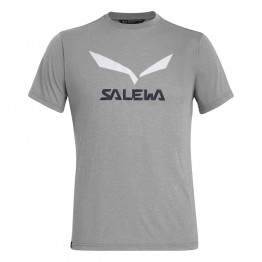 Футболка Salewa Solidlogo Dri-Release чоловіча сіра