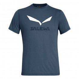 Футболка Salewa Solidlogo Dri-Release чоловіча темно-синя
