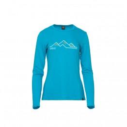 Футболка Turbat Cozy Logo Wms жіноча блакитна