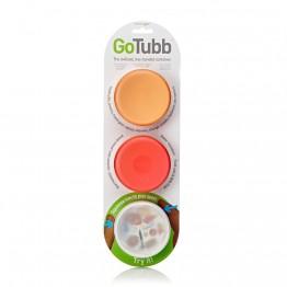 Набор контейнеров Humangear GoTubb 3-Pack Medium белый/оранжевый/красный