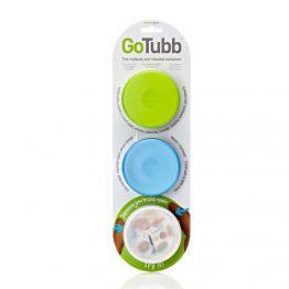 Набор контейнеров Humangear GoTubb 3-Pack Medium белый/зеленый/голубой