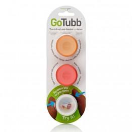Набор контейнеров Humangear GoTubb 3-Pack Small белый/оранжевый/красный