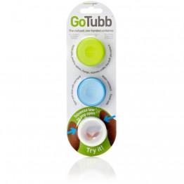 Набор контейнеров Humangear GoTubb 3-Pack Small белый/зеленый/голубой