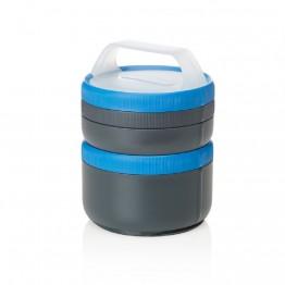 Набор контейнеров Humangear Stax Storage Container Set XL/EatSystem серый/синий