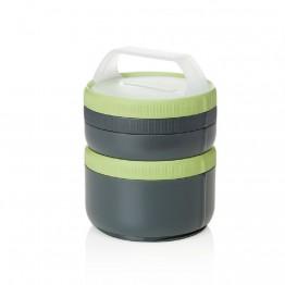 Набір контейнерів Humangear Stax Storage Container Set XL/EatSystem сірий/зелений