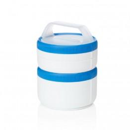 Набор контейнеров Humangear Stax Storage Container Set XL/EatSystem белый/синий
