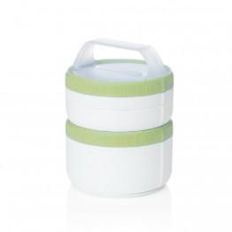 Набор контейнеров Humangear Stax Storage Container Set XL/EatSystem белый/зеленый