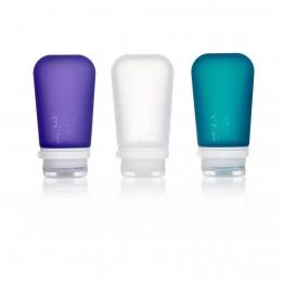 Набір силіконових пляшечок Humangear GoToob+ 3-Pack Large біла/фіолетова/бірюзова