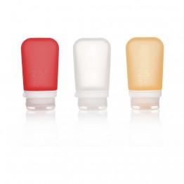 Набір силіконових пляшечок Humangear GoToob+ 3-Pack Medium біла/червона/оранжева