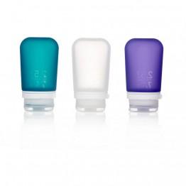 Набор силиконовых бутылочек Humangear GoToob + 3 Pack Medium белая/фиолетовая/бирюзовая