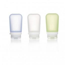 Набір силіконових пляшечок Humangear GoToob+ 3-Pack Medium біла/зелена/блакитна