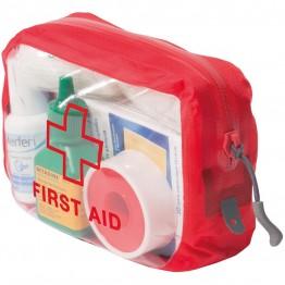 Органайзер Exped Clear Cube First Aid S красный