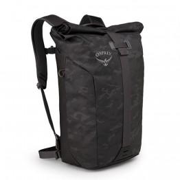 Рюкзак Osprey Transporter Roll черный (Camo Black)