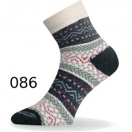 Шкарпетки Lasting HMC білі/зелені