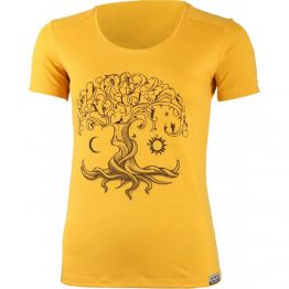 Термофутболка Lasting Kastro жіноча жовта